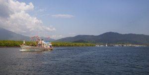 Andaman Fishing Boat leaving the Kuraburi Pier