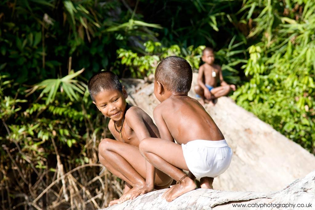 Moken Kids at play