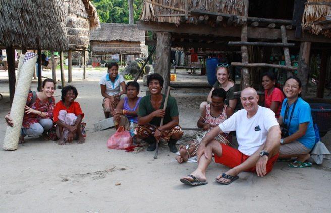 In the Moken Village