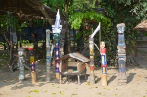 Moken Spirit Poles