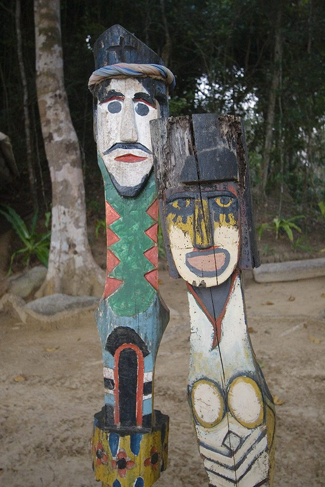 Moken Spirit carvings