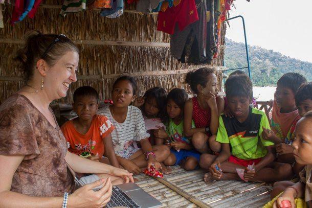 Kristin Sherwood visiting The Moken of Surin