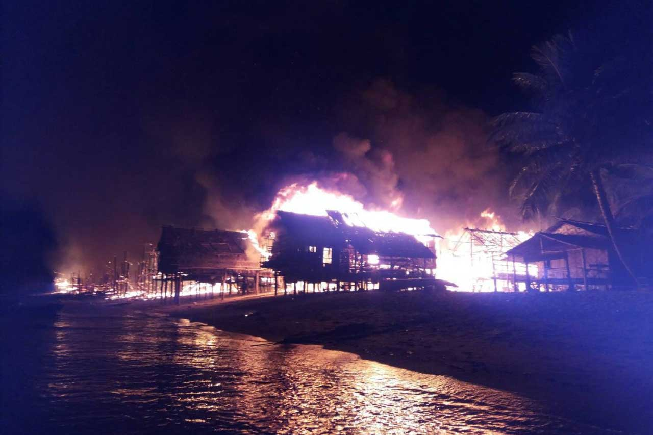 Fire at the Moken Village on Surin