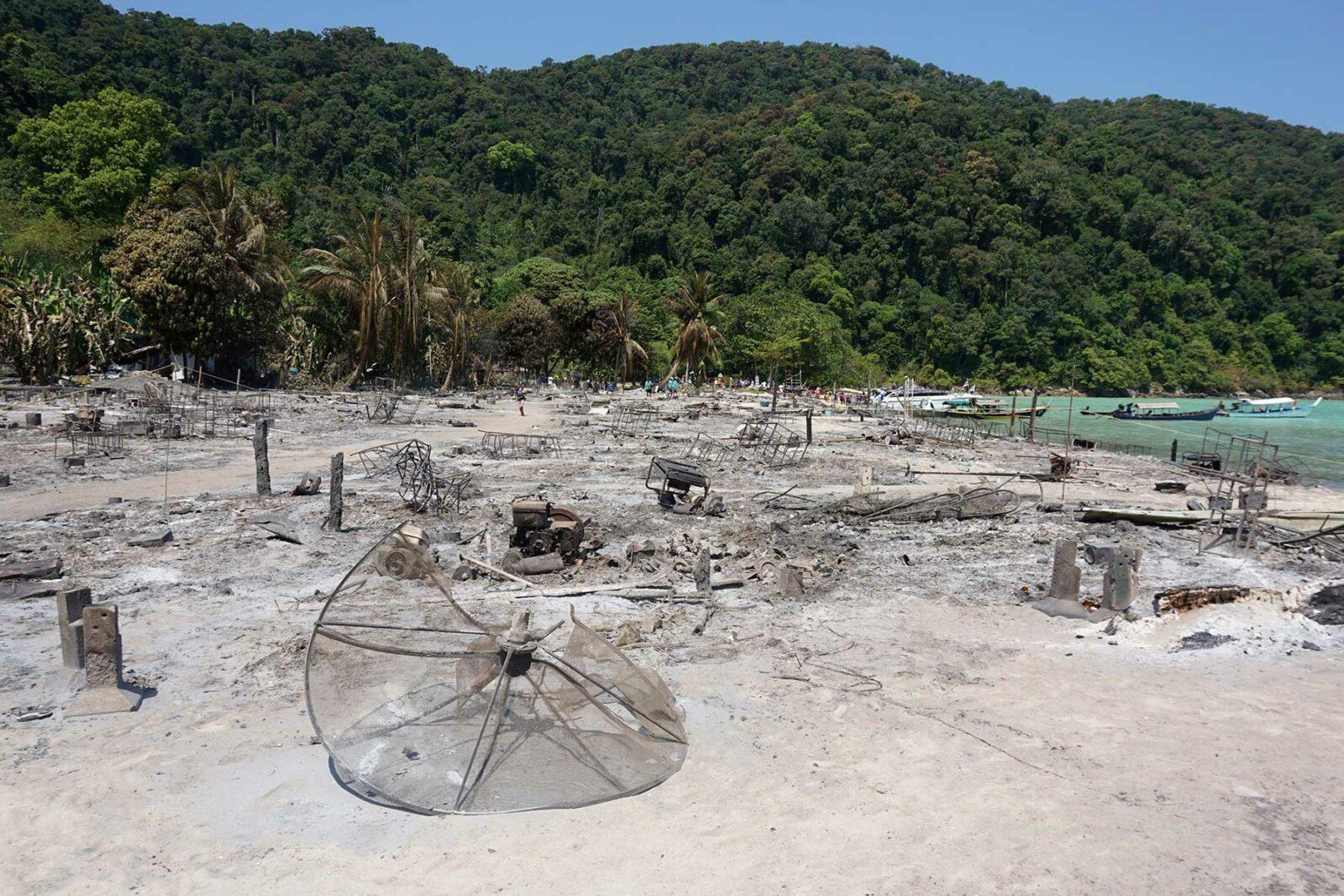 Moken village fire 2019